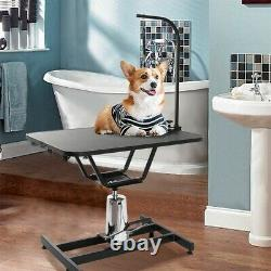 Hydraulic Pet Grooming Table Heavy Duty Professional Dog Drying Table With Clamp