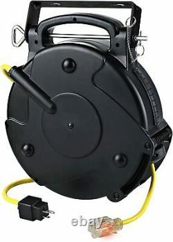 Industrial 12/3 65 Ft Single Tap Retractable Extension Cord Reel 8665TFS Alert