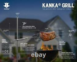 Kanka Grill Professional Rotisserie Style Cooking. Heavy Duty Motor. Battery