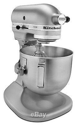 KitchenAid HEAVY DUTY pro Stand Mixer Lift Rksm500pssm All Metal 5-qt Silver