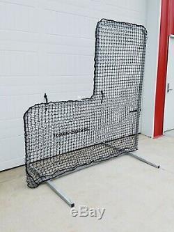 L-Screen 7' x 7' Professional Baseball Safety Frame & 90Ply Xtra-Heavy Duty