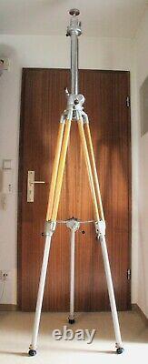 Linhof Professional Holz Stativ Heavy Duty Pro mit großer Kurbelsäule und Platte