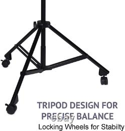 LyxPro Professional Microphone Stand Heavy Duty 90 Studio Overhead Boom Stand w