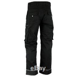 Men Work Cargo Trouser Black Pro-11 Heavy Duty Multi Pockets