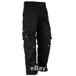 Men Work Cargo Trouser Black Pro-11 Heavy Duty Multi Pockets W34 L33