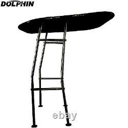 NEW! Dolphin Pro Fishing Boat T Top Heavy Duty T top Black Frame/ Black Canopy