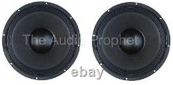 NEW pair (2) 10 inch Upgrade Pro Woofers 8 Ohm DJ PA Concert Bass Heavy Duty