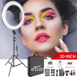 Neewer 20-inch LED Ring Light Kit 144W Dimmable Circle Light 12M Pro Light for