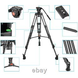 Neewer Professional Heavy Duty Video Camera Tripod, 64 in/ 163cm Aluminum Alloy