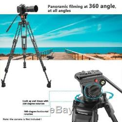 Neewer Professional Heavy Duty Video Camera Tripod, 64 inches/163 centimeters