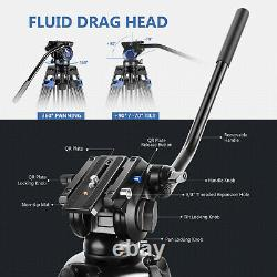 Neewer Professional Heavy Duty Video Tripod 76'' Aluminium Alloy Fluid Drag Head