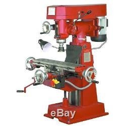 New 9 Speed Vertical Milling Machine Professional Heavy Duty