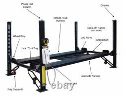 New Best Value Professional 8,000 LBS. 4-Post Car Auto Lift Special Promo