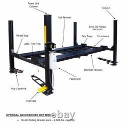 New Best Value Professional 9,000 lbs. 9K HD 4-Post XLT Truck Auto Lift