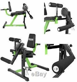 New Heavy Duty Pro Leg Curl & Extension Workout Machine Quads Hamstring Press
