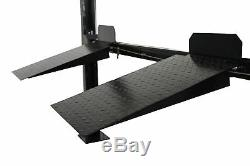 New Pro Lift 8000 LB 4-Post Larger XLT Storage Lift withCasters & Trays