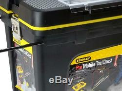 New Stanley Heavy Duty Pro Rolling Mobile Tool Chest Box Trunk Storage On Wheels