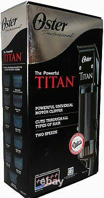 Oster TITAN 2 Speed Heavy Duty Professional Hair Clipper with Detachable Blade