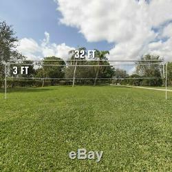 Outdoor Volleyball Net Professional Sport Regulation Heavy Duty Set 32FT Lx3FT W