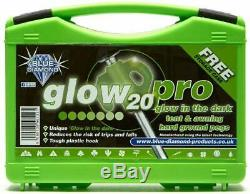 P222 Glow In The Dark Tent Awning Camping Heavy Duty Hard Ground Pegs Pro 20 Pk