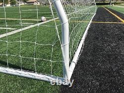 PASS Premier 24X8 FT. Premium FIFA/MLS Size, Heavy Duty Steel Soccer Goal(2Net)
