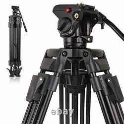POLAM-FOTO Professional Video Tripod System Aluminum Alloy Heavy Duty Video
