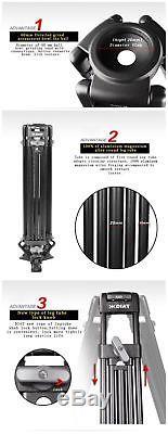 PROAIM DIAT 63 Professional Heavy Duty Video 3-Section Tripod With Fluid Head