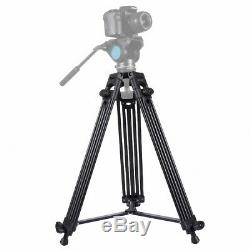 PULUZ Professional Heavy Duty Video Camcorder Aluminum Alloy Tripod 62-140cm