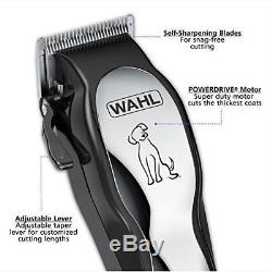 Pet Professional Thick Hair Complete Heavy Duty Dog Fur Grooming Clipper Kit Set