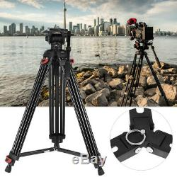 Pro Heavy Duty 71 inch DV Video Camera Tripod Stand Fluid Pan Ball Head Kit Bag