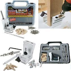 Pro Pocket Hole Jig Kit 850 EZ Tool System Woodworking Screw Drill Heavy Duty