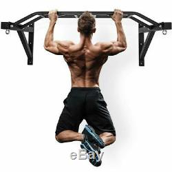 Pro Wall Mounted Heavy Duty Chin Pull Up Bar Gym Workout Home Fitness Training