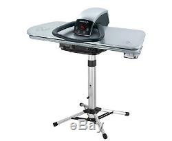 Professional 101HD Heavy Duty Steam Iron Press 101cm + Stand, Silver (& Iron ++)