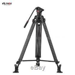 Professional 75Aluminum Heavy Duty DV Video Camera Tripod Stand Fluid Head I9X2