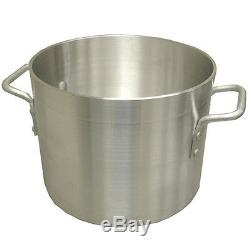 Professional Aluminum Stock Pots Heavy duty commercial grade, thick walled pans
