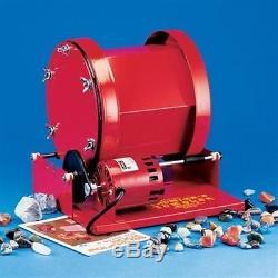 Professional Grade Rotary Tumbler Heavy Duty Rotary with 15 lb Capacity, Red
