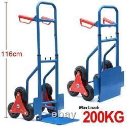 Professional Handy 200kg Heavy Duty Sack Truck Trolley Transport Climbing Stair