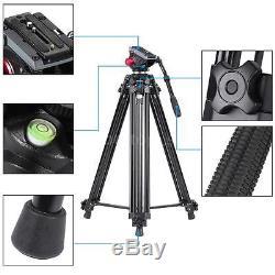 Professional Heavy Duty 67inch DV Video Camera Tripod Stand Fluid Pan Head Kit