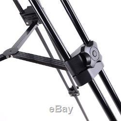 Professional Heavy Duty DV Video Camera Tripod Fluid Pan Head Kit with Handle Case