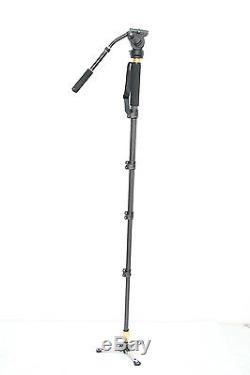 Professional Heavy Duty Photo Video Camera Monopod Stand Kit, Pan & Tilt Head