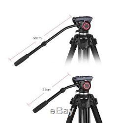 Professional Heavy Duty Tripod Stand Fluid Ball Head DigitalSLR Camera Camcorder