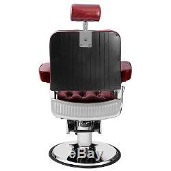 Professional Heavyduty Hydraulic Vintage Barber Chair Salon Beauty Spa Equipment