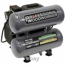 Professional Woodworker 4 Gallon Twin Stack Air Compressor MPN/Model 9526
