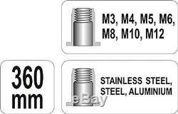 Professional heavy duty hand nut thread riveter, rivet gun M3-M12 YT-36128