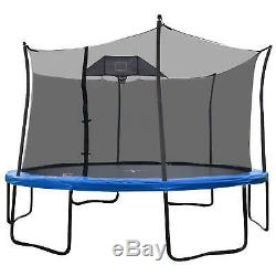 Propel 14 Heavy-Duty Pro Trampolines With Basketball Hoop And Enclosure