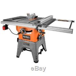 RIDGID 13 Amp 10 In Professional Cast Iron Table Saw Heavy Duty Stand Powerful