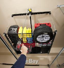 Racor PHL-1R Pro HeavyLift 4-by-4-Foot Cable-Lifted Storage Rack 1