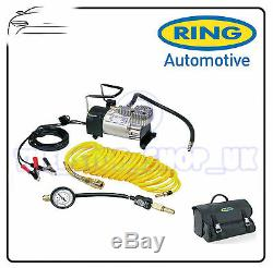 Ring PRO Heavy Duty Air Compressor 100psi Max Inflator Kit & Deflator RAC900