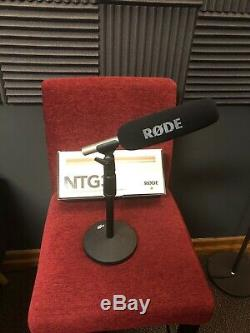 Rode NTG-3 Shotgun Microphone with Pop Filter And Heavy Duty Mic Stand