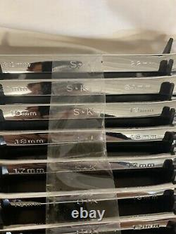 SK PROFESSIONAL TOOLS 86223 16 Piece Combination Metric Wrench Set Chrome 6-22mm
